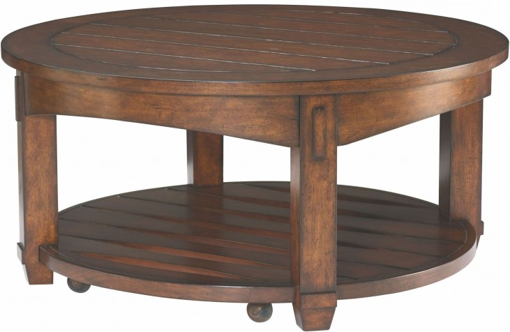 Tacoma Medium Brown Round Cocktail Table