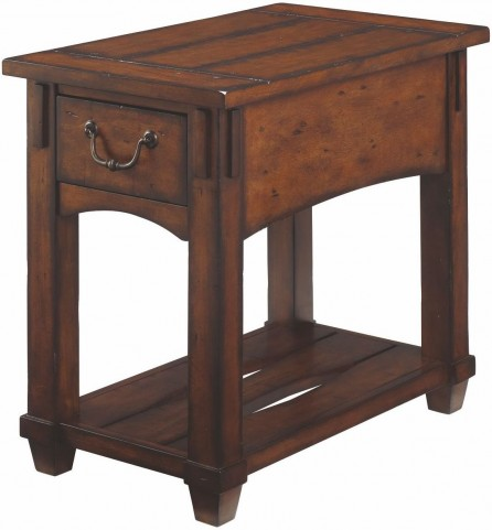 Tacoma Medium Brown Chairside Table