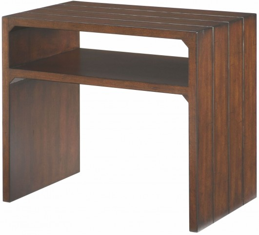 Tacoma Medium Brown Flipping End Table