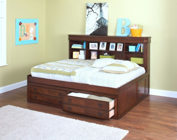 Sheridan Burnished Cherry Full Lounge Bed