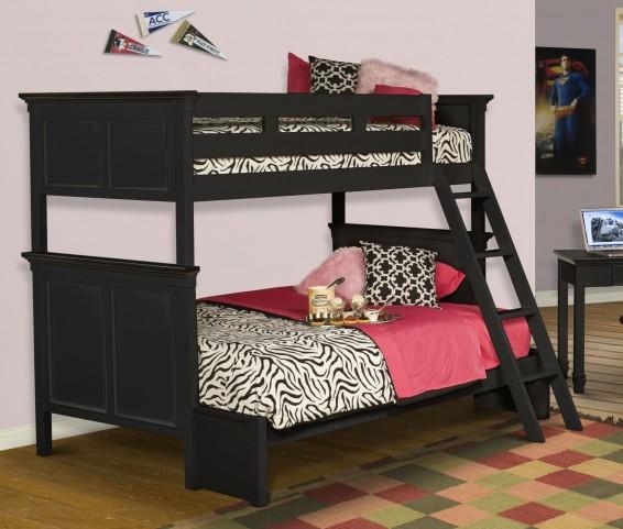Tamarack Black Twin Over Twin Bunk Bed