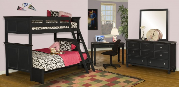 Tamarack Black Youth Bunk Bedroom Set