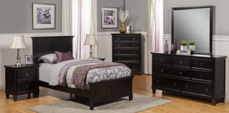 Tamarack Black Youth Platform Bedroom Set