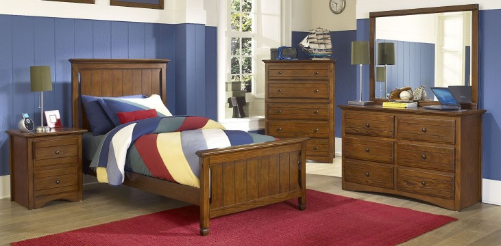 Sawmill Youth Cocoa Youth Panel Bedroom Set