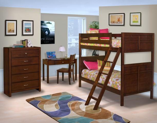 Kensington Burnished Cherry Youth Bunk Bedroom Set