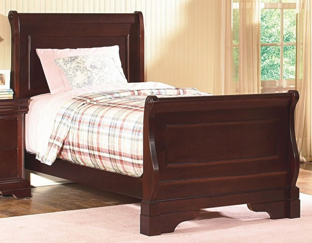 Versaille Bordeaux Twin Sleigh Bed
