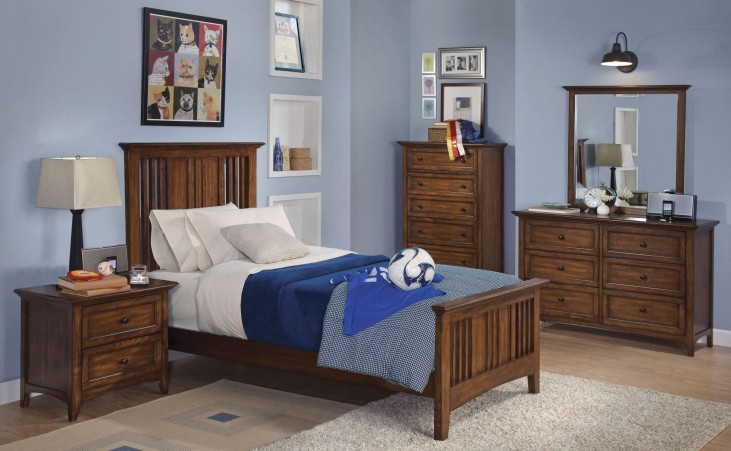 Logan Spice Youth Panel Bedroom Set