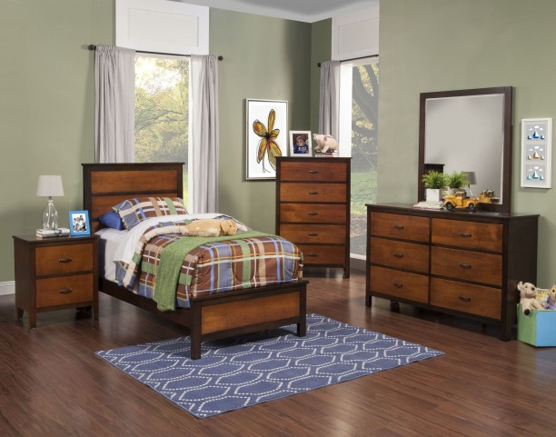 Bishop African Chestnut /Ginger Youth Panel Bedroom Set