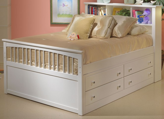 Bayfront White Youth Captain's Bedroom Set