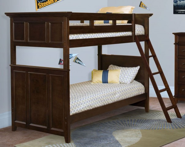 Prescott Sable Twin Over Twin Bunk Bed With Storage