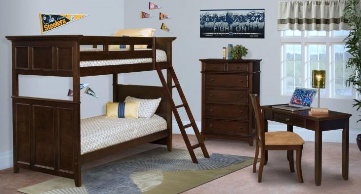 Prescott Sable Youth Storage Bunk Bedroom Set