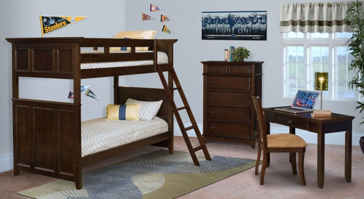 Prescott Sable Youth Bunk Bedroom Set