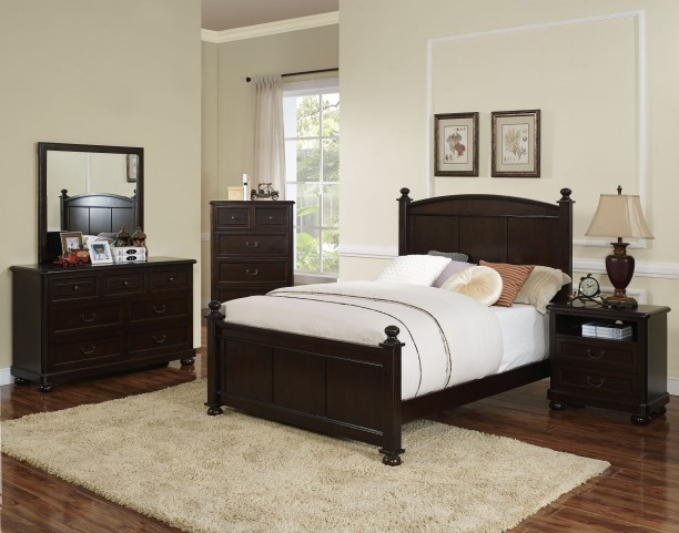 Canyon Ridge African Chestnut Youth Poster Bedroom Set