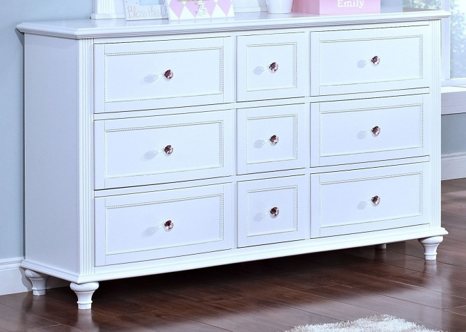 Megan Youth White Dresser