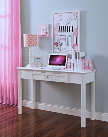 Megan Youth White Desk