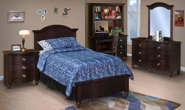 Victoria Espresso Youth Panel Bedroom Set