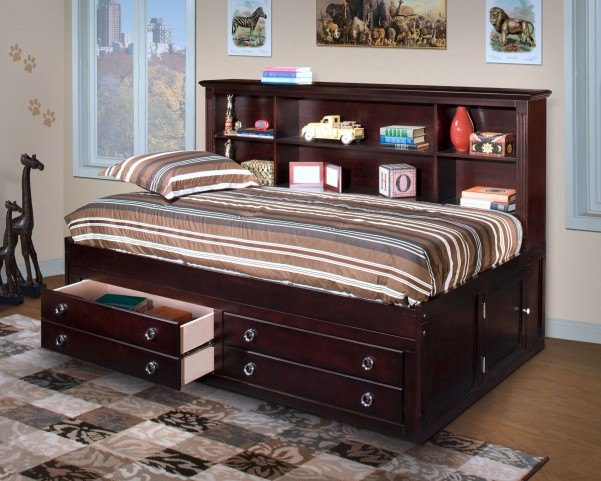 Victoria Espresso Twin Lounge Bed