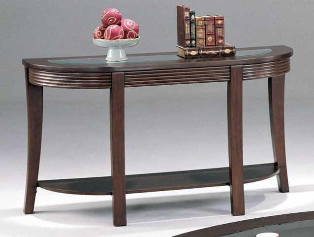 Devon Cappuccino Finish Sofa Table - 5526