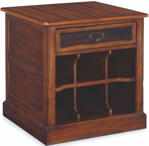 Mercantile Whiskey Rectangular Storage End Table