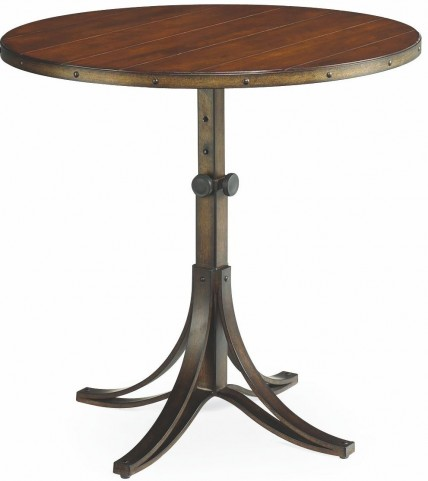 Mercantile Whiskey Round Adjustable Accent Table