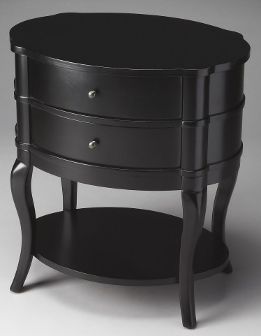 Jarvis Black Licorice Oval Side Table