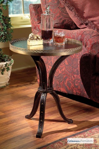 Distinctive Hand Painted Accent Table