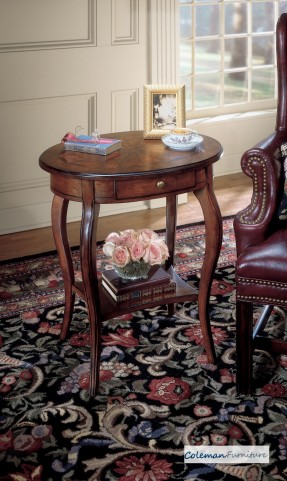 Plantation Cherry 0532024 Oval Accent Table
