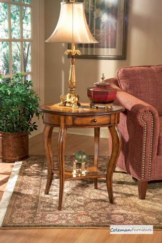 Olive Ash Oval Accent Table