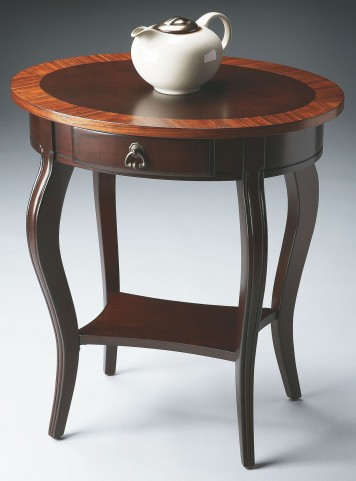 Jeanette Cherry Nouveau Oval Accent Table