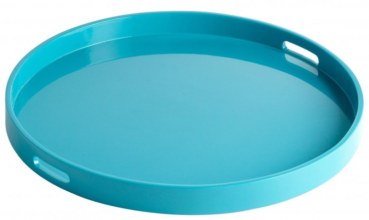 Estelle Teal Lacquer Large Tray