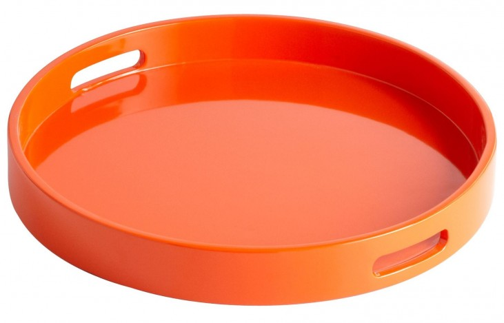 Estelle Orange Lacquer Small Tray