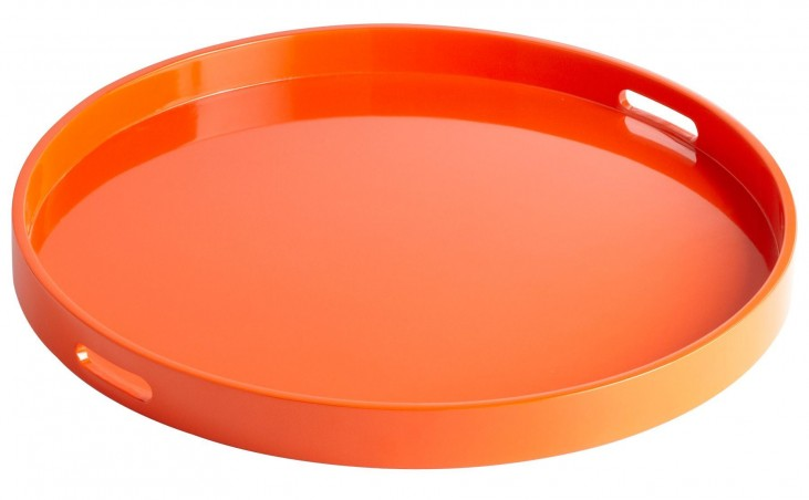 Estelle Orange Lacquer Large Tray