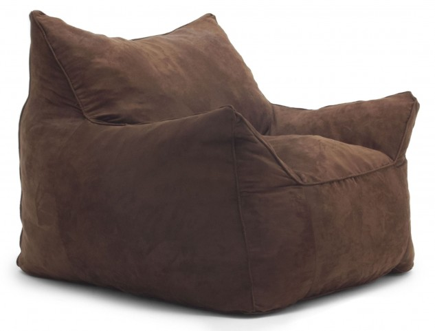 Big Joe Imperial Lounger Chocolate Passion Suede Chair
