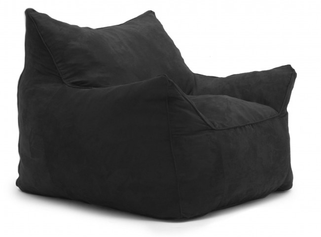 Big Joe Imperial Lounger Black Passion Suede Chair