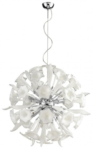 Remy White and Clear 16 Light Pendant