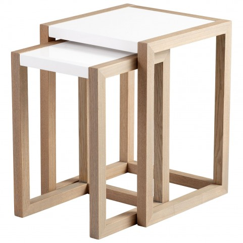 Becket White Nesting Tables