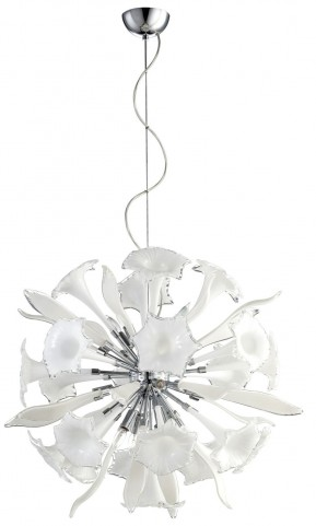 Remy White and Clear 12 Light Small Pendant