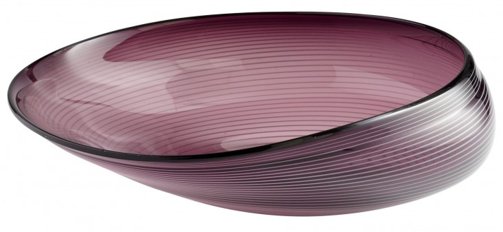 Purple Oyster Large Bowl