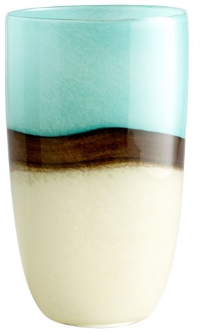 Turquoise Earth Large Vase