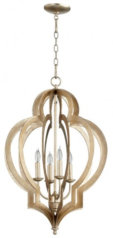 Vertigo Silver Leaf Small Chandelier