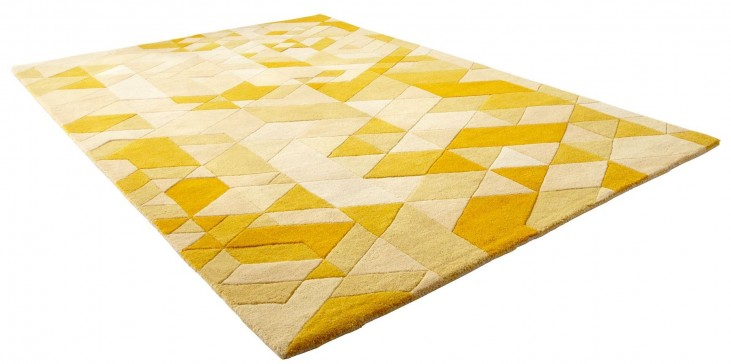 Facets Gold Large Rug