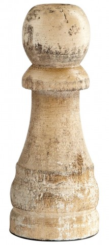 Petrified Pawn Sculpture
