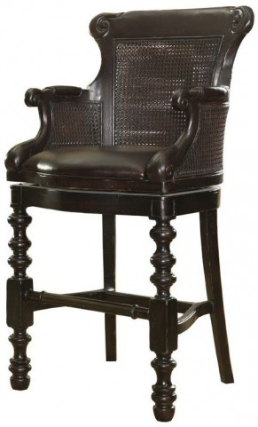 Kingstown Rich Tamarind Dunkirk Swivel Bar Stool