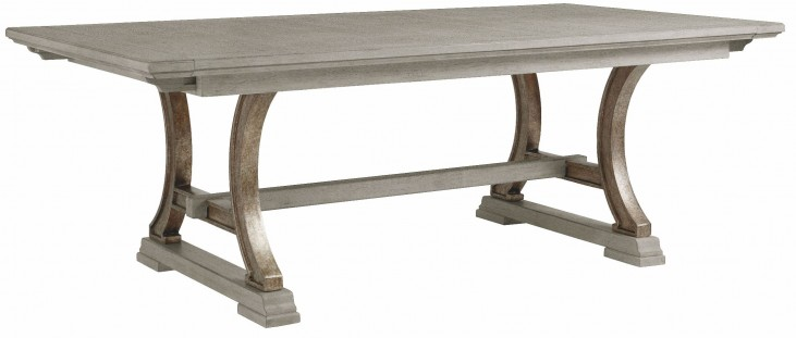 Coastal Living Resort Morning Fog Shelter Bay Extendable Rectangular Dining Table