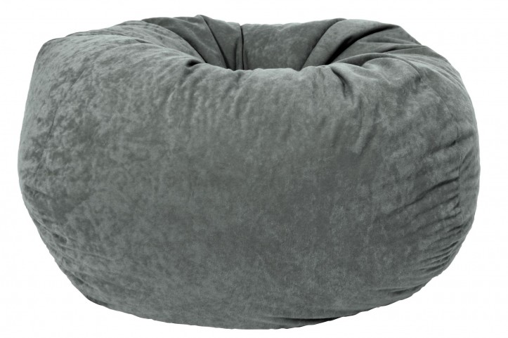 "Big Joe Classic 88"" Steel Grey Comfort Suede Bean Bag"