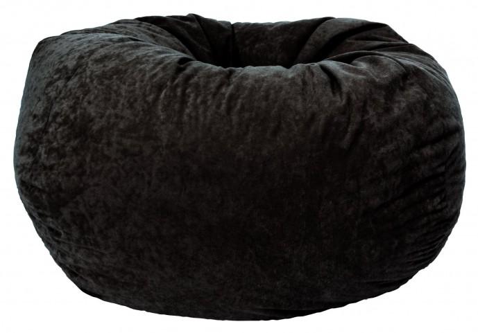 "Big Joe Classic 88"" Black Onyx Comfort Suede Bean Bag"