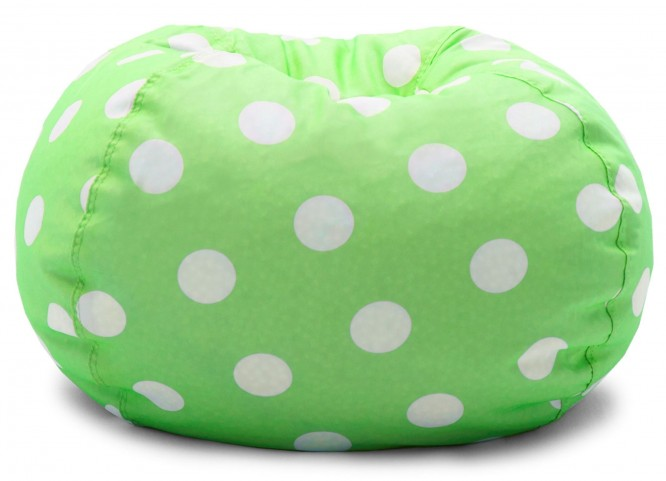 "Big Joe Classic 88"" Chartreuse with White Dots Gabardine Bean Bag"