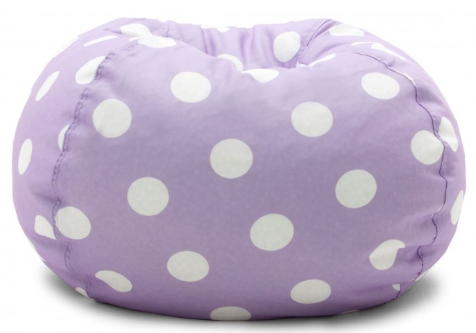 "Big Joe Classic 88"" Purple with White Dots Gabardine Bean Bag"