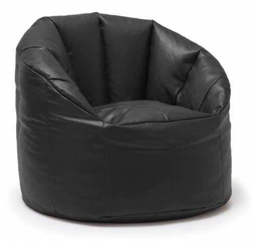 Big Joe Milano Black Vegan Leather Chair