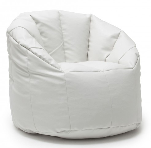 Big Joe Milano White Vegan Leather Chair